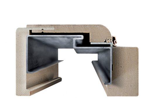 Obklad kovovej zárubne ORS5 rez